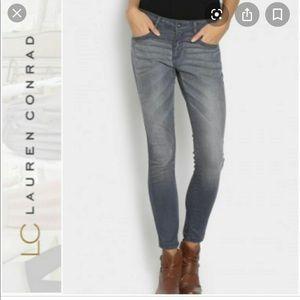 LC Lauren Conrad grey skinny jeans- 10